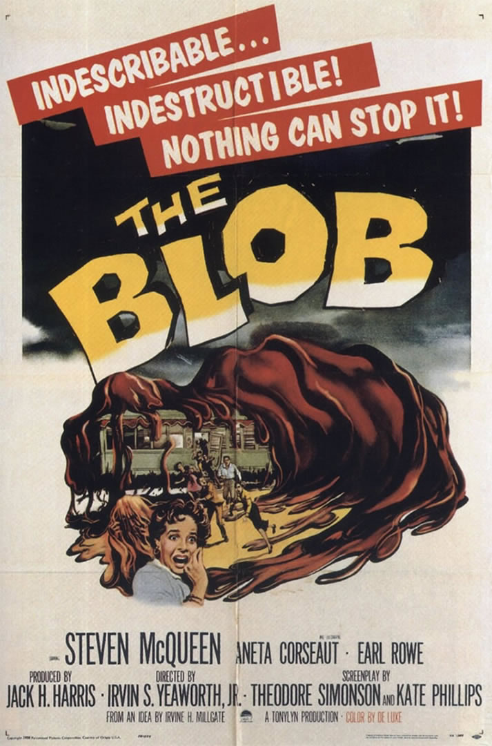 the blob 1950s b movie posters