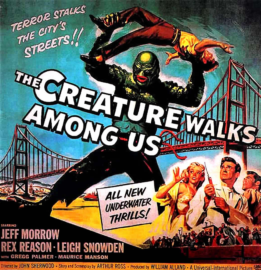 the creature walks among us 1950s b movie posters