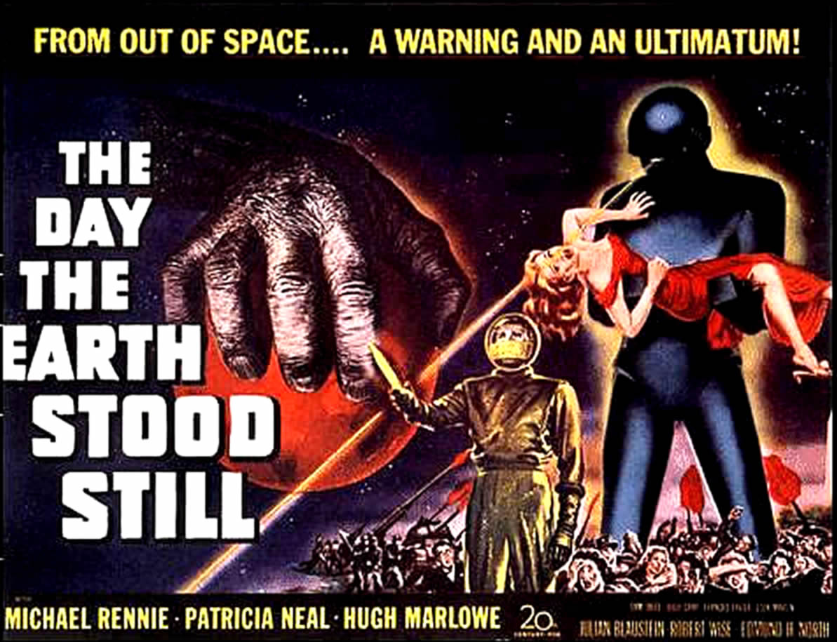 the day the earth stood still alien invasion b movie posters