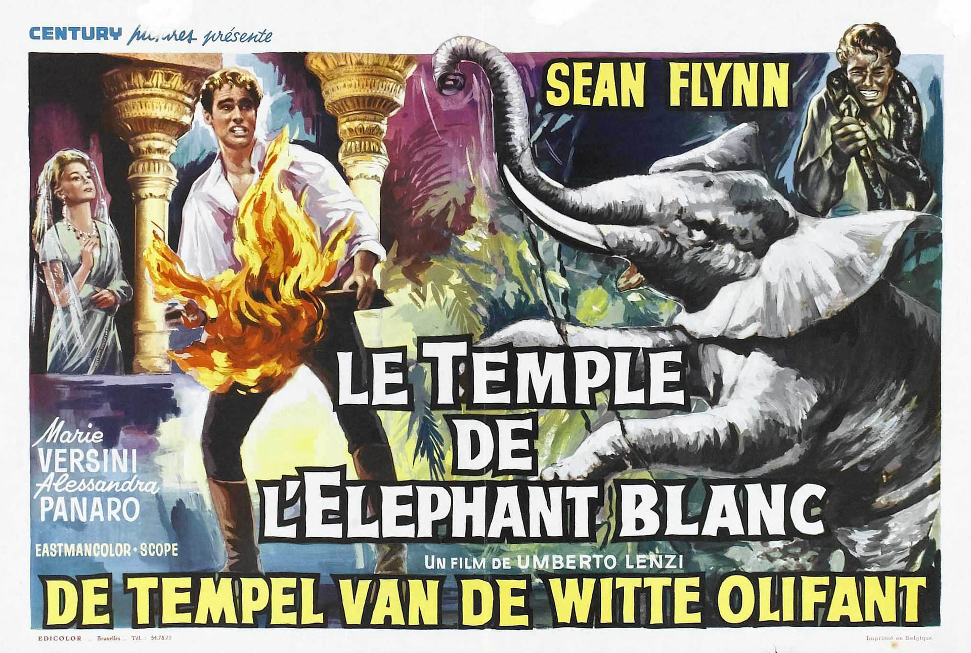 The Temple Of The White Elephant - belgian b movie posters wallpaper ...