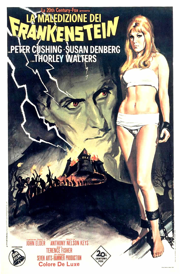 POSTER FRANKENSTEIN CREATED WOMAN 2 - hammer horror b movie posters    Frankenstein Created Woman Poster