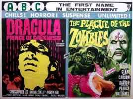 DRACULA PRINCE OF DARKNESS and PLAGUE OF THE ZOMBIES double bill