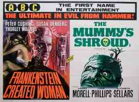 FRANKENSTEIN CREATED WOMAN and THE MUMMYS SHROUD double bill