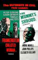 FRANKENSTEIN CREATED WOMAN and THE MUMMYS SHROUD double crown