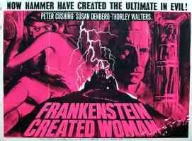 FRANKENSTEIN CREATED WOMAN landscape