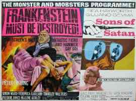 FRANKENSTEIN MUST BE DESTROYED and SONS OF SATAN double bill