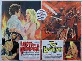 LUST FOR A VAMPIRE and THE LOSERS double bill