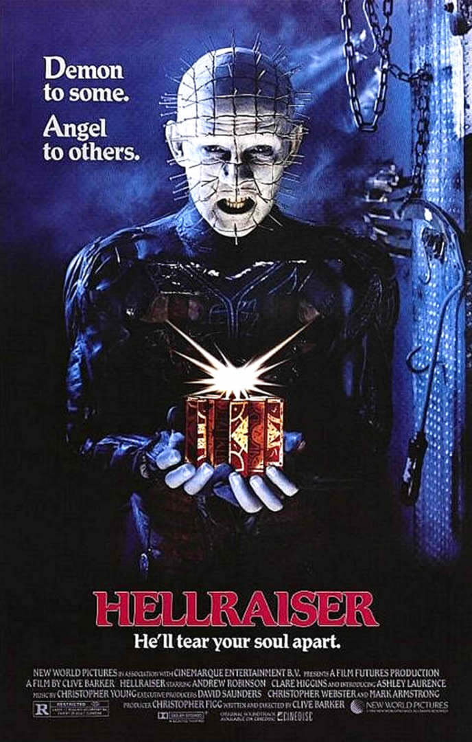 HELLRAISER - Wallpaper Image featuring Horror B Movie Posters