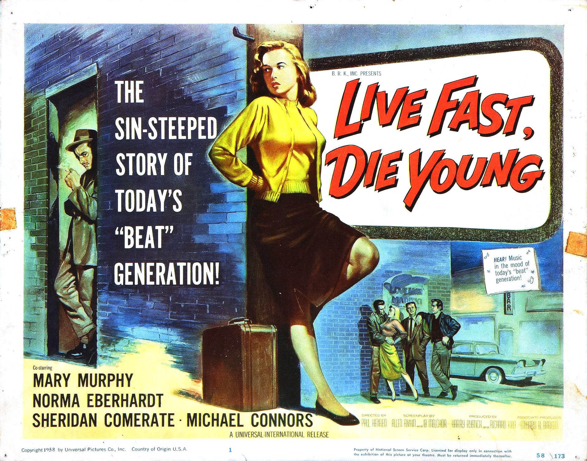 live fast die young juvenile delinquent b movie posters