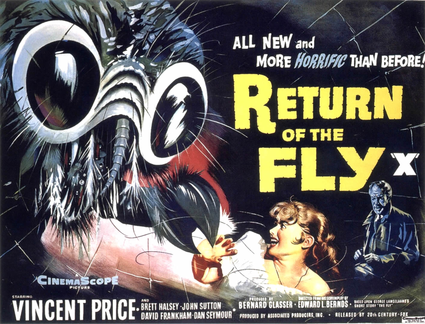Return of the fly monster b movie posters wallpaper image