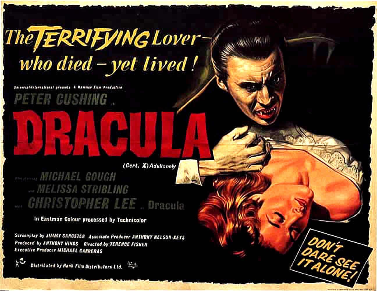 dracula c lee vampire b movie posters
