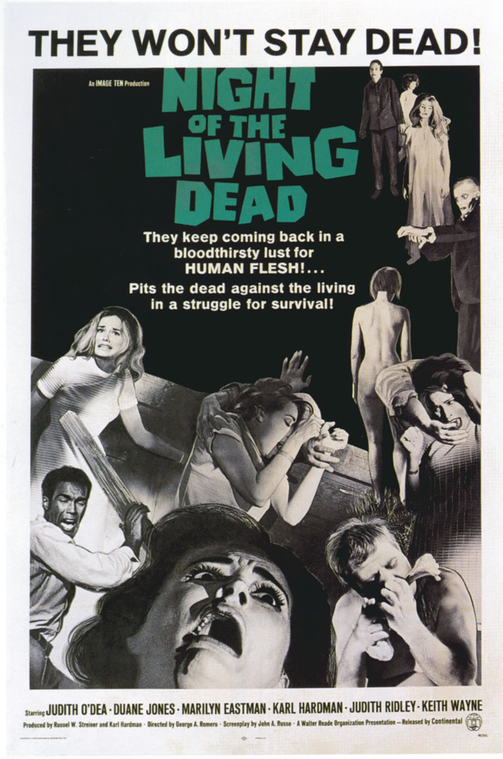 Night Of The Living Dead Zombie B Movie Posters