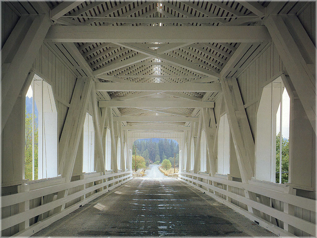BW Lynn Radeka Covered Bridge Interior