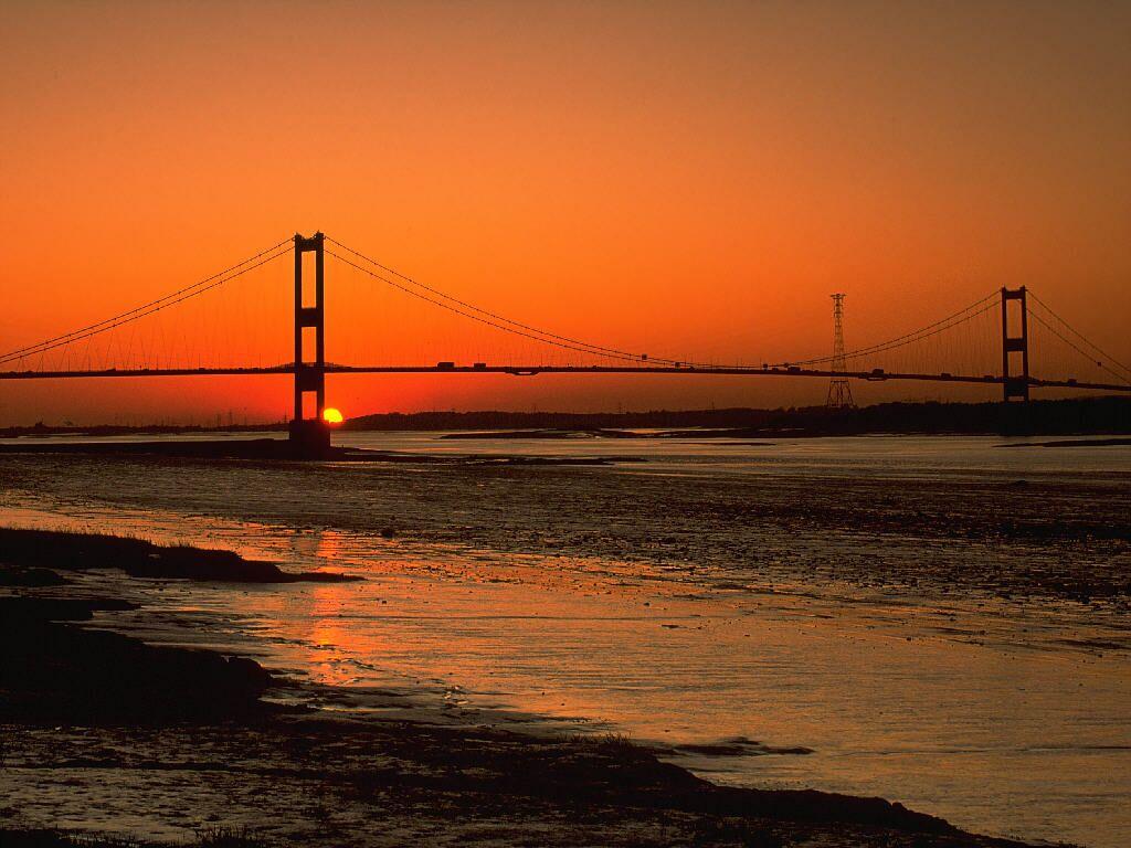 Sunset Severn Bridge Avon