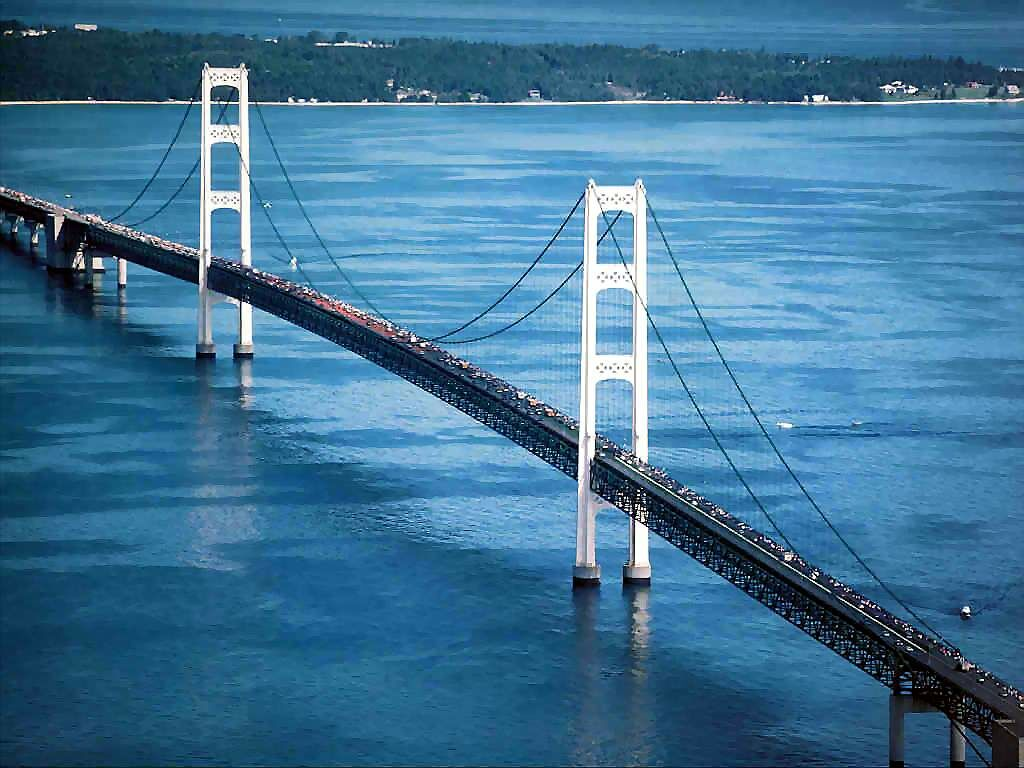 Island michigan bridges buildings and landmarks wallpaper image