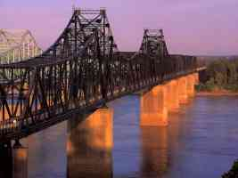 Bridge Over The Mississippi At Vicksburg