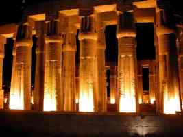 egyptian temple at night in luxor