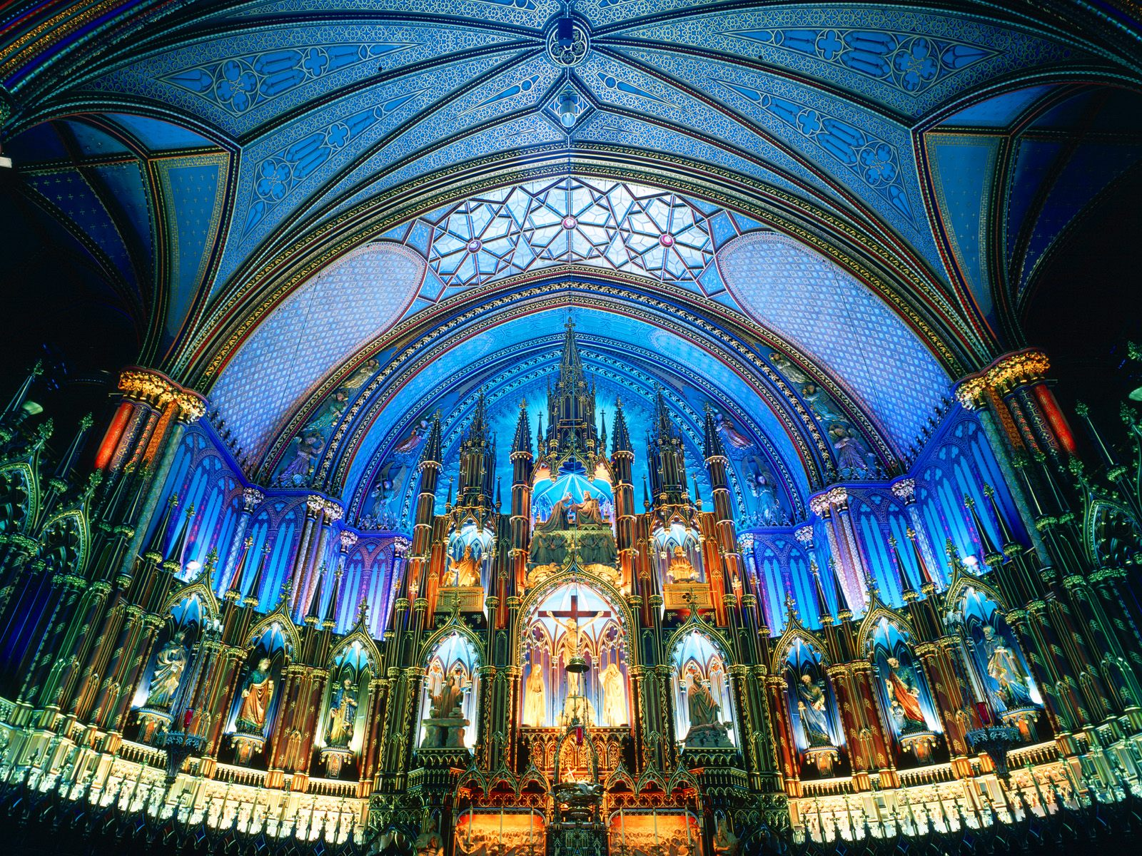 Notre Dame Basilica Montreal Canada - Churches Buildings And Landmarks ...