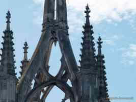 close up of faversham church spire
