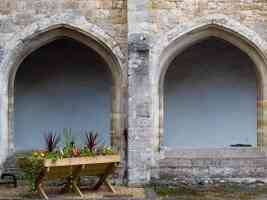 norman arches and flowers