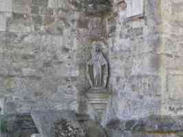 statue of mary in corner of all saints church maidstone