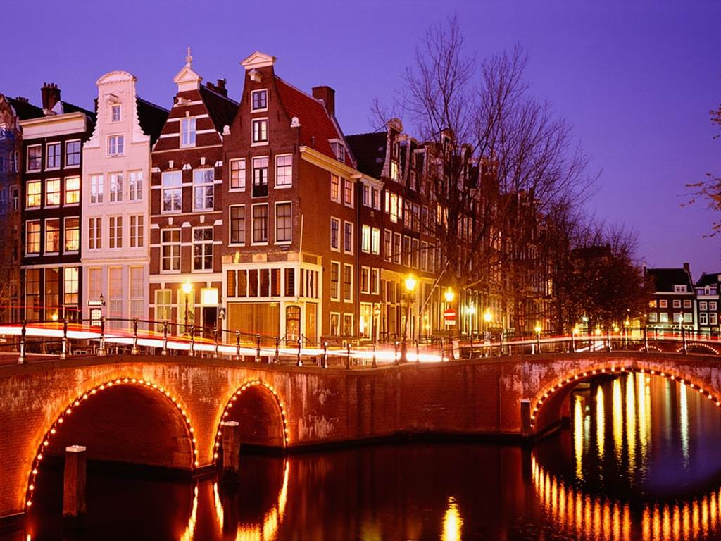 City Lights Amsterdam Netherlands
