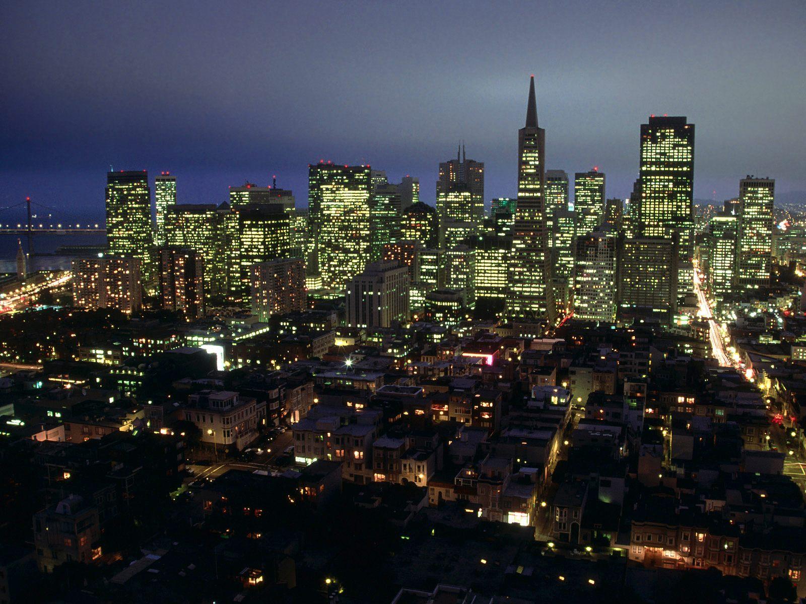 City Lights Of San Francisco California