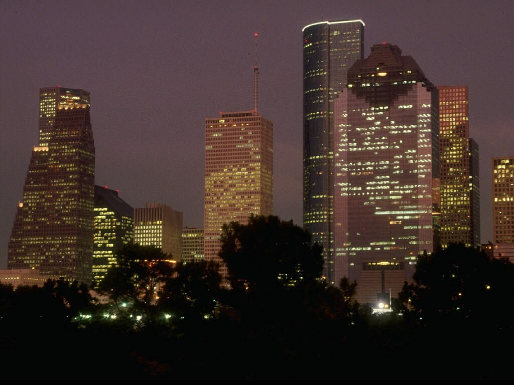 Houston At Dusk