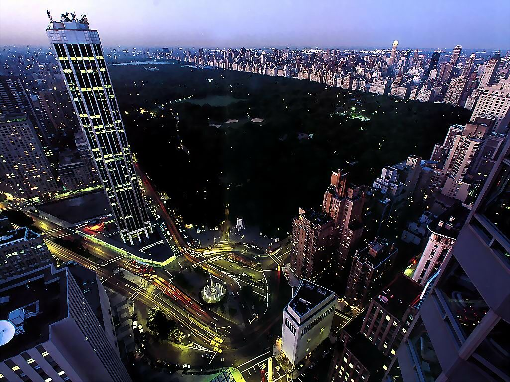 Manhattan Central Park From Above
