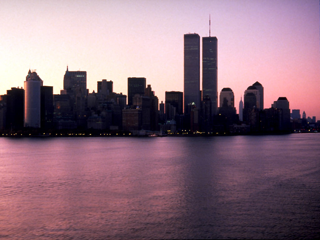 New York With Twin Towers