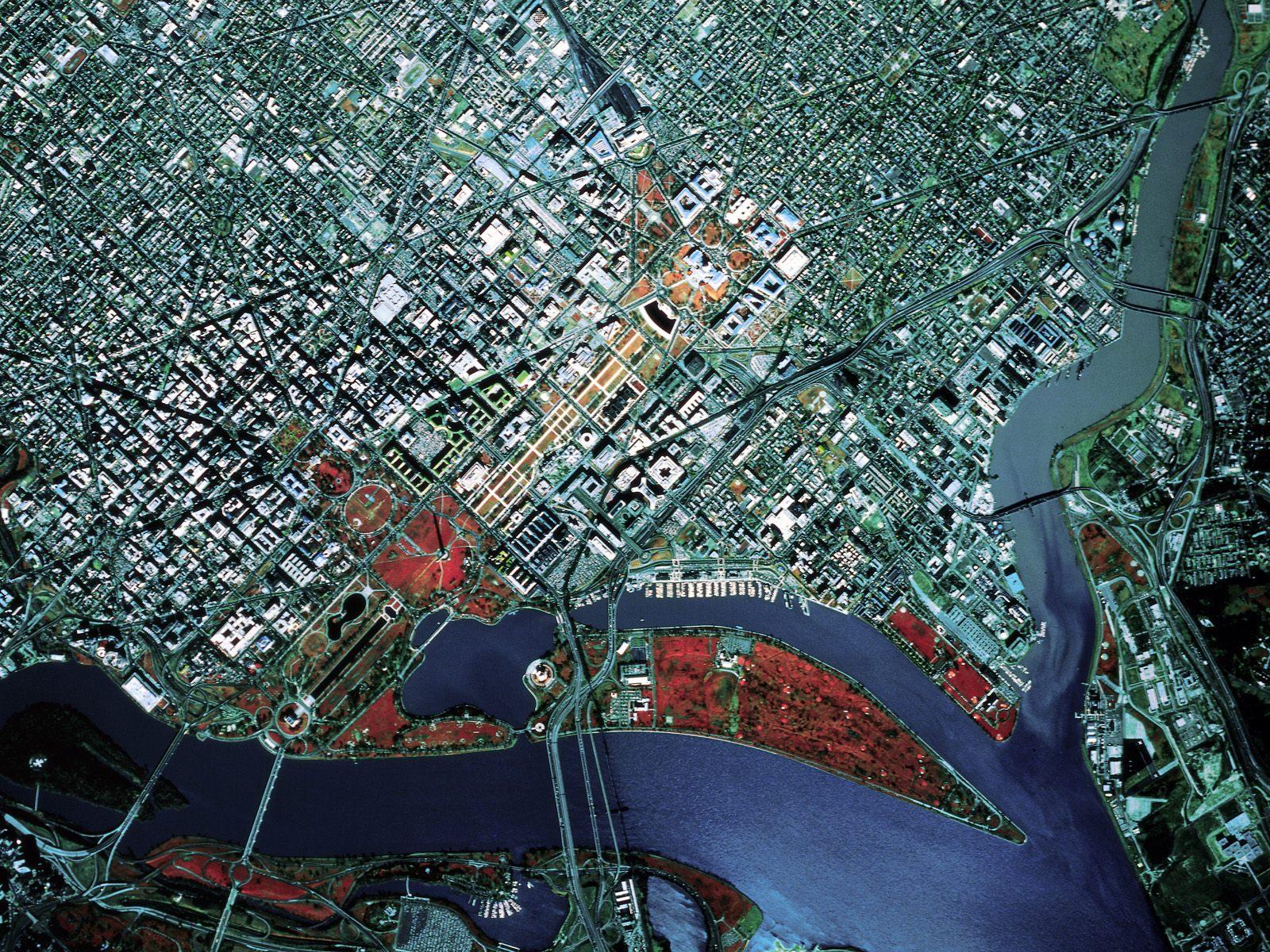 Satellite View Washington D C