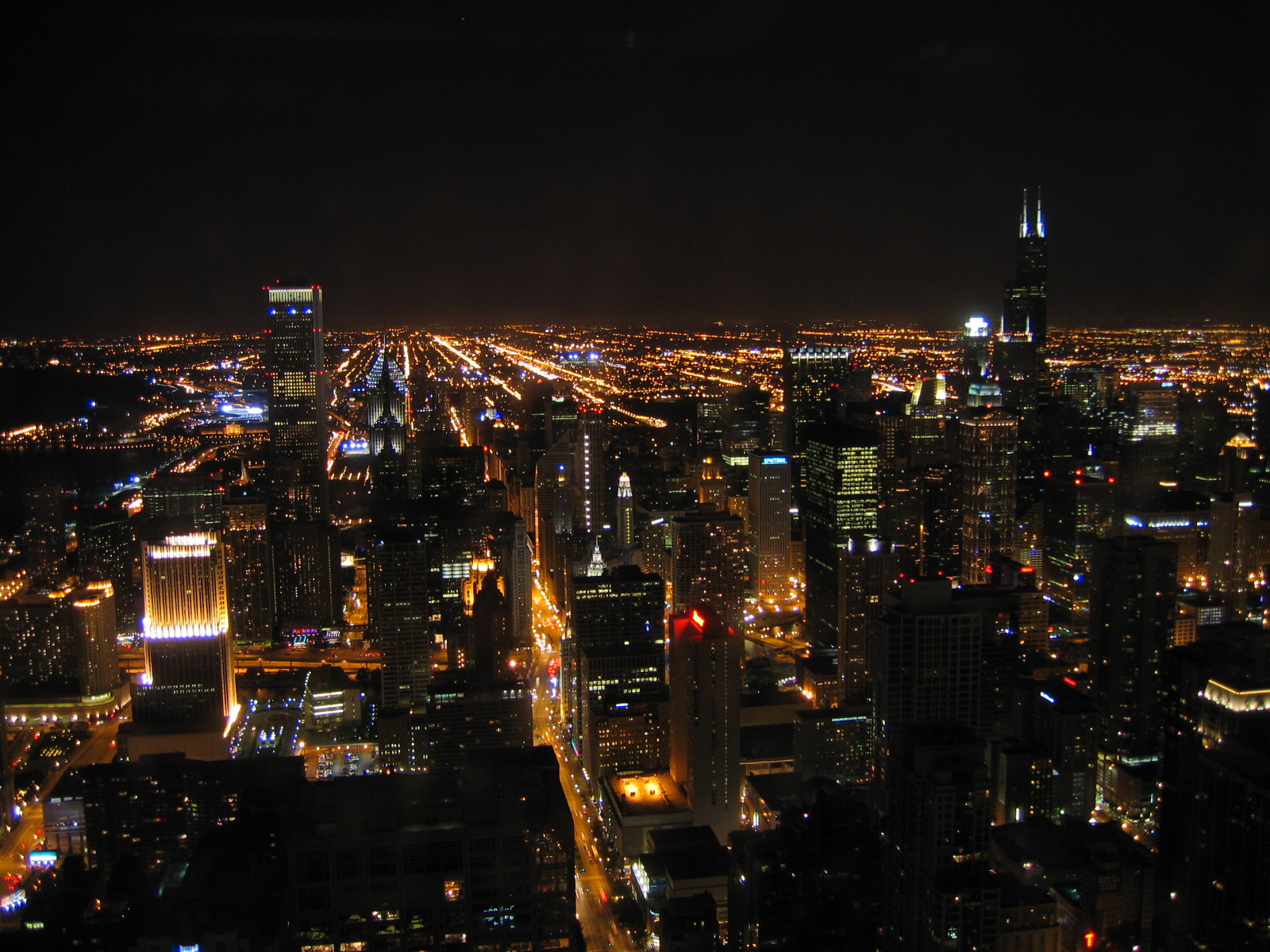 The City At Night From The Sky