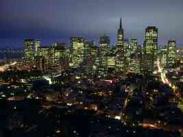 city lights of san francisco california