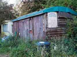 iron wharf boatyard shack