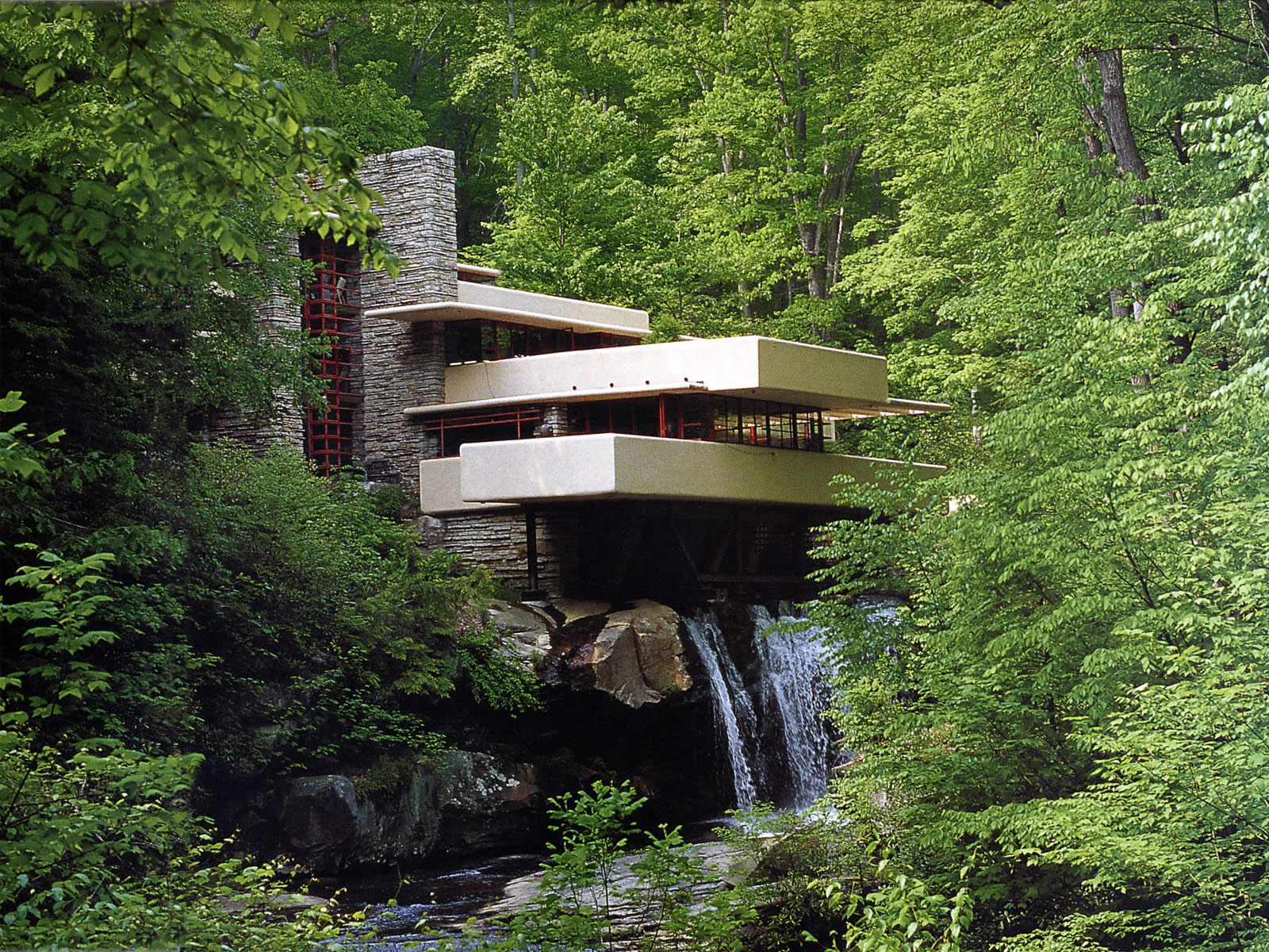 Pennsylvania Fallingwater Frank Lloyd Wright Famous