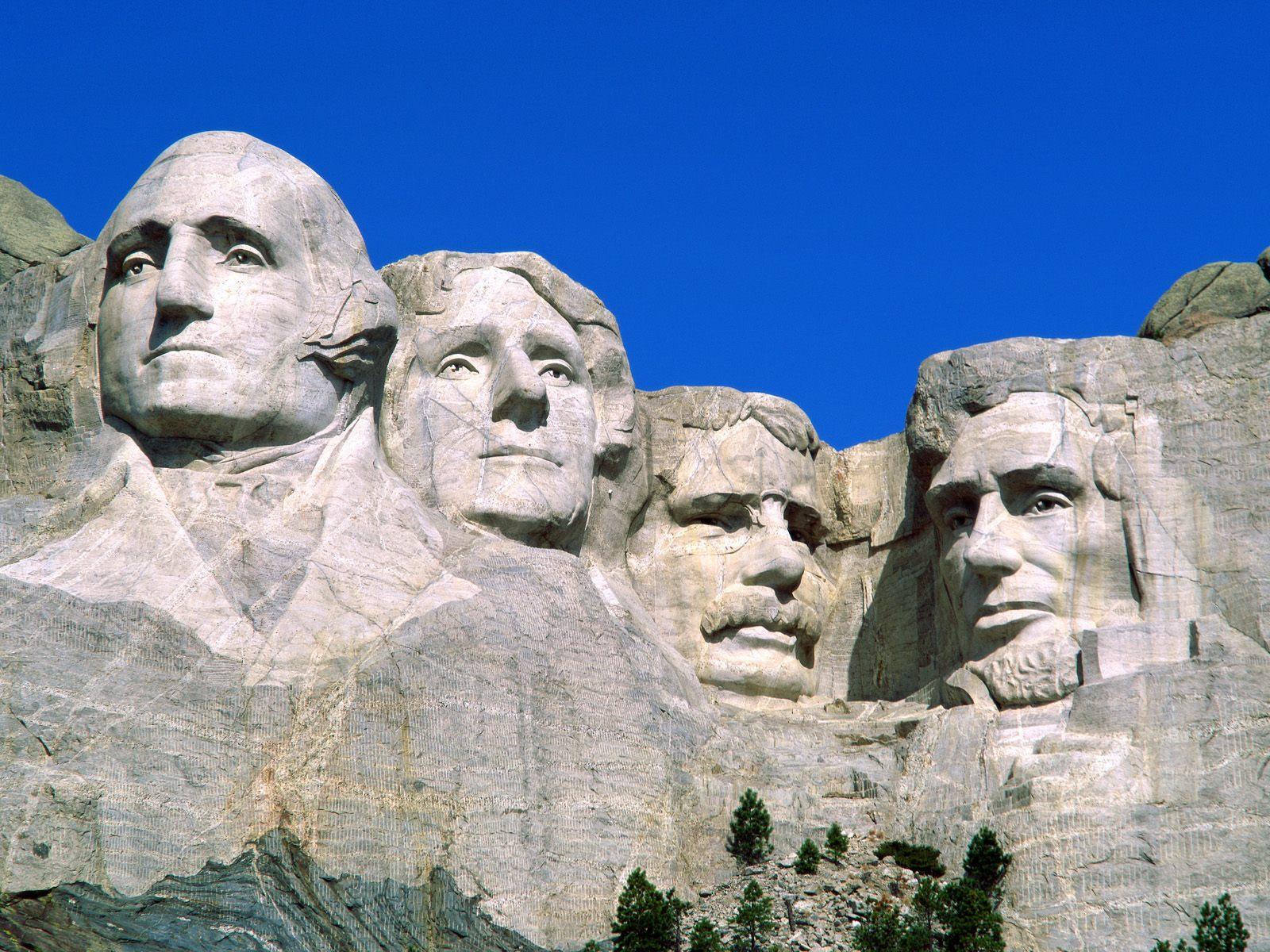 Presidential Portraits Mount Rushmore National Monument South Dakota