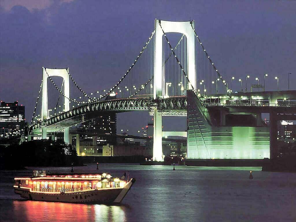 Famous Rainbow Bridge Tokyo Japan