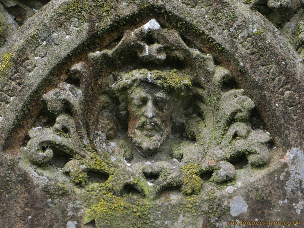 Jesus Face On Gravestone
