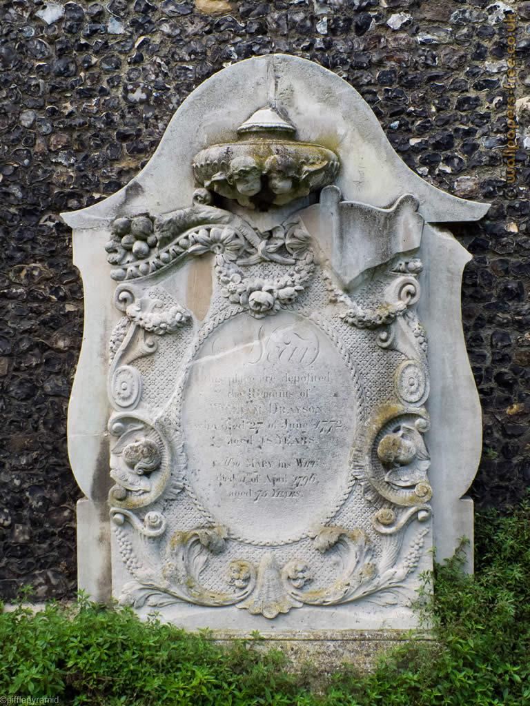 Large Gravestone At Faversham Church