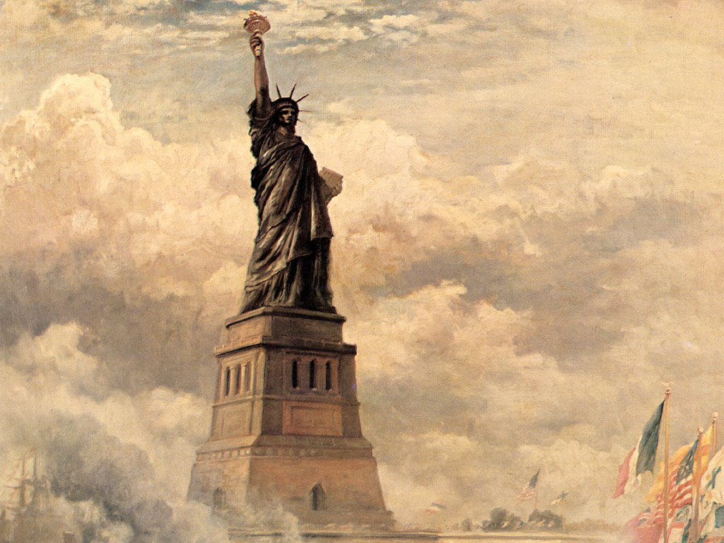 Edward Moran Statue Of Liberty Enlightening The World