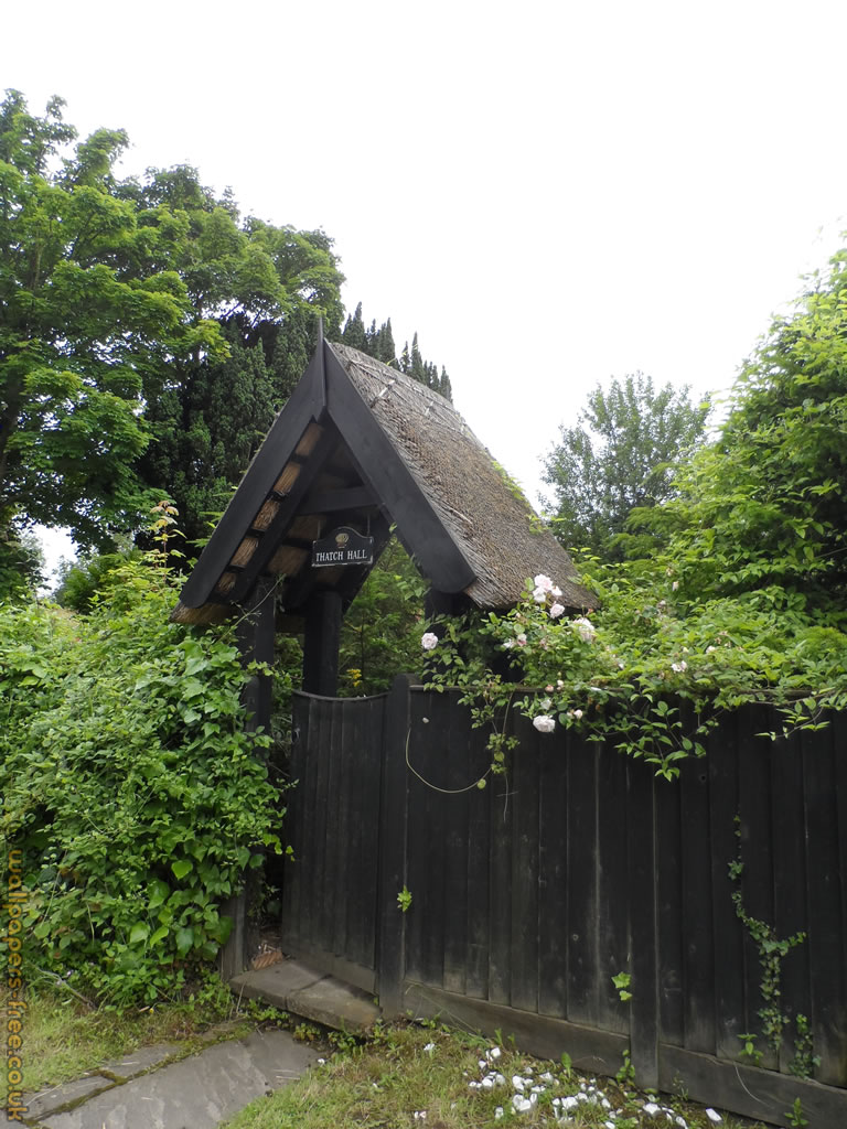 Thatched Roof House Entrance