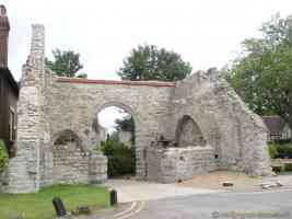medieval stone ruin in historic maidstone