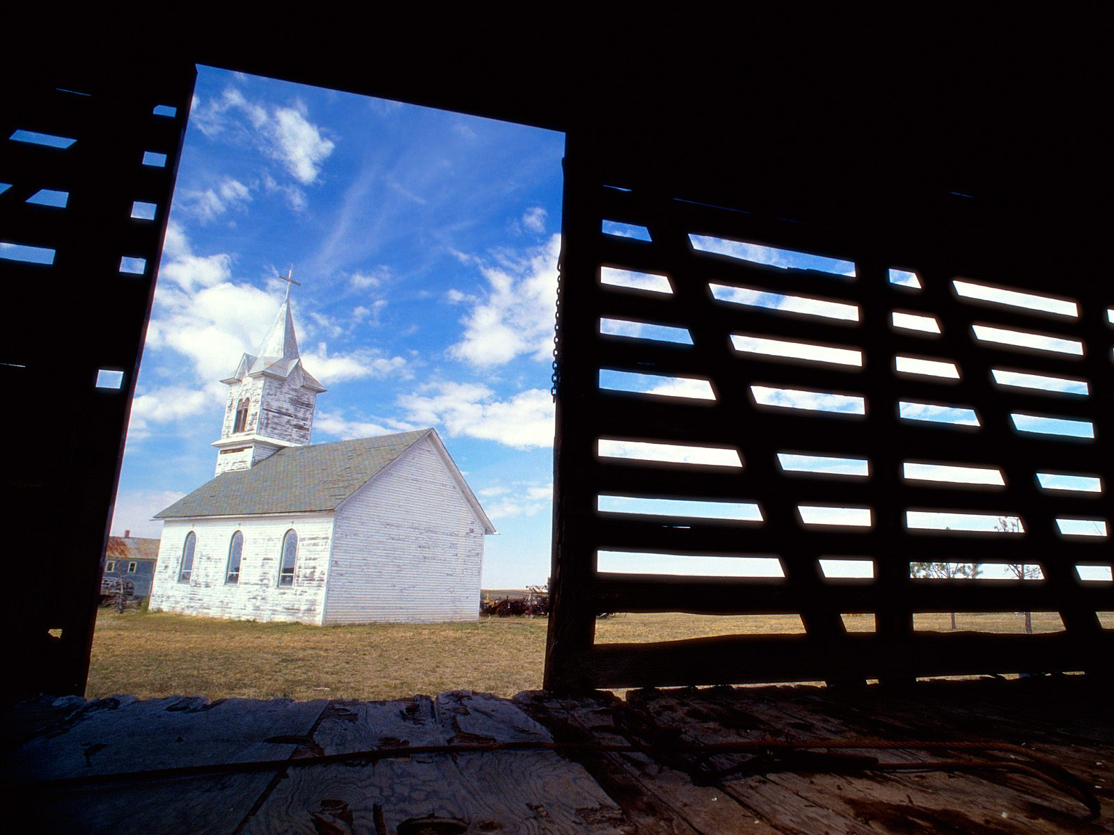 1880 Town And Church South Dakota