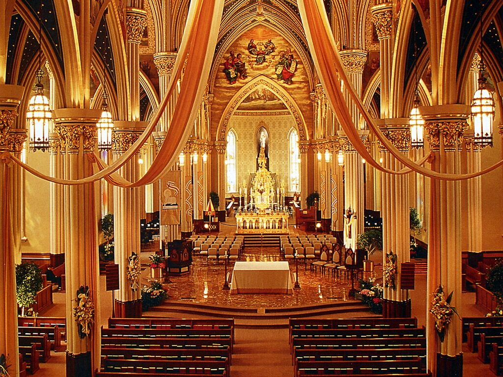 Indiana Notre Dame Basilica Of The Sacred Heart - Religious Buildings ...