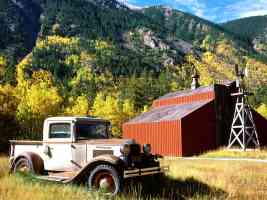 1931 international pickup truck near twin lakes colorado