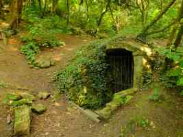 entrance to the bat cave in vinters nature reserve