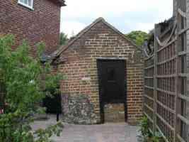 wonky brick shed