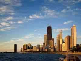 chicago skyline illinois