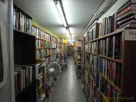 long corridor of books