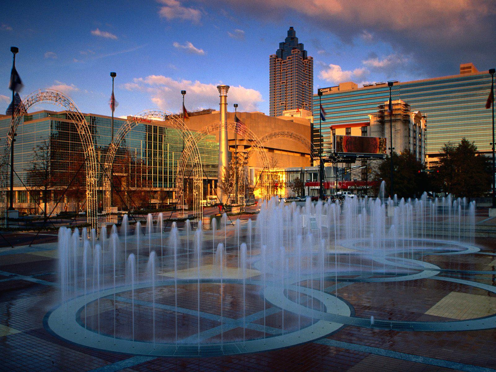 Centennial Park Fountain Atlanta Georgia